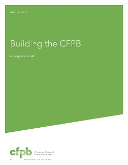 Building the CFPB: A Progress Report. Click the image to read the full report.