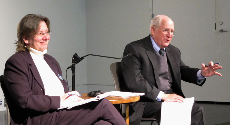 Skip Humphrey in a town hall with seniors, caregivers, and professionals in Portland, Maine
