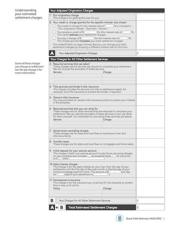 Loan Estimate Page 2 >> Compare Know Before You Owe Mortgages Consumer Financial