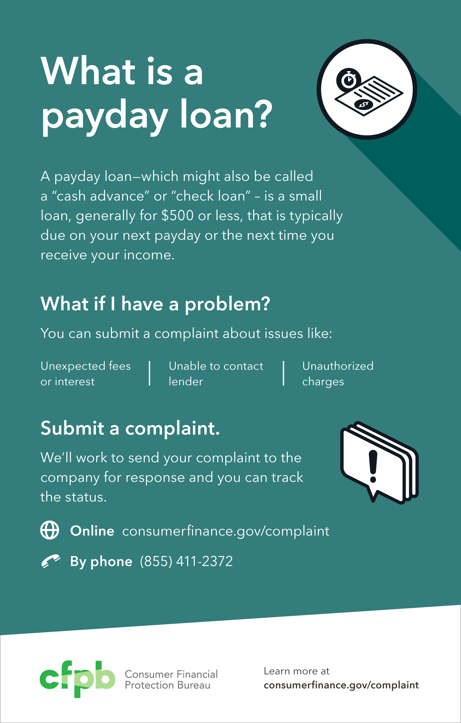 You can submit a payday loan complaint | Consumer ...