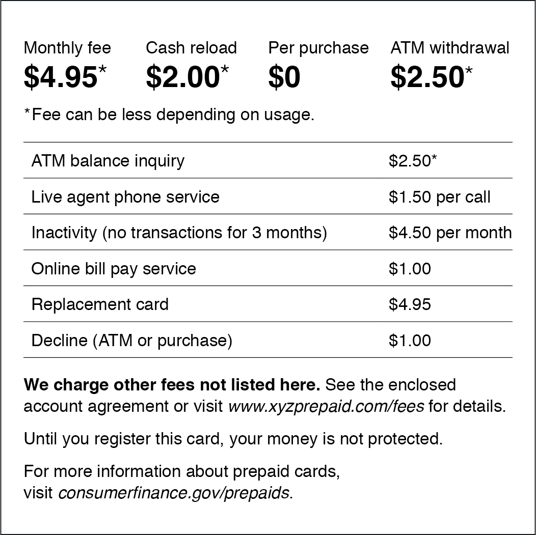Prepaid cards: Help design a new disclosure | Consumer ... on twic application form, loan application form, board application form, invitation application form, credit application form,