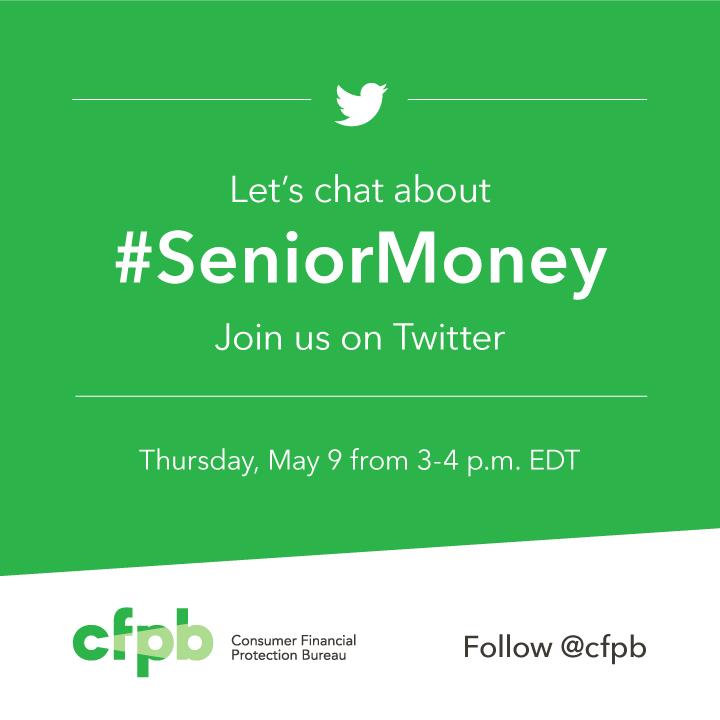 twitter let s talk about seniormoney consumer financial protection bureau. Black Bedroom Furniture Sets. Home Design Ideas