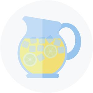 Illustration of a pitcher of lemonade