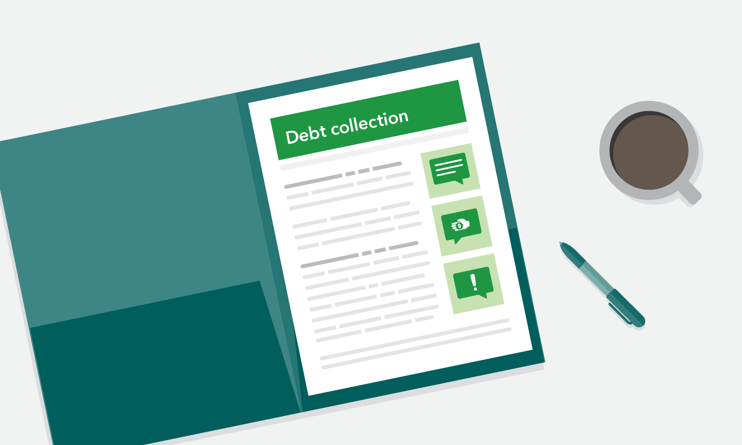 Debt collection blog illustration