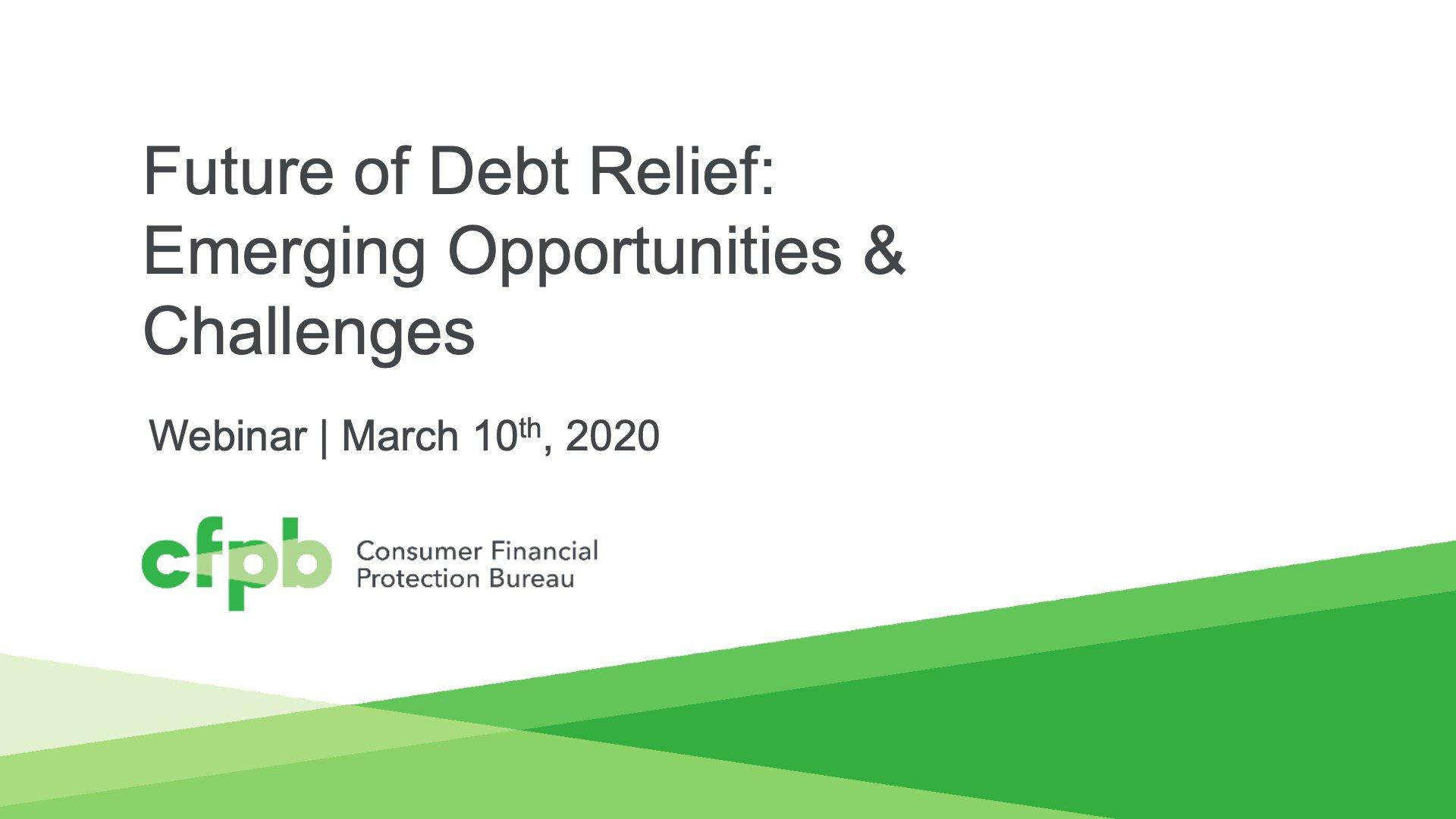 Future of debt Relief
