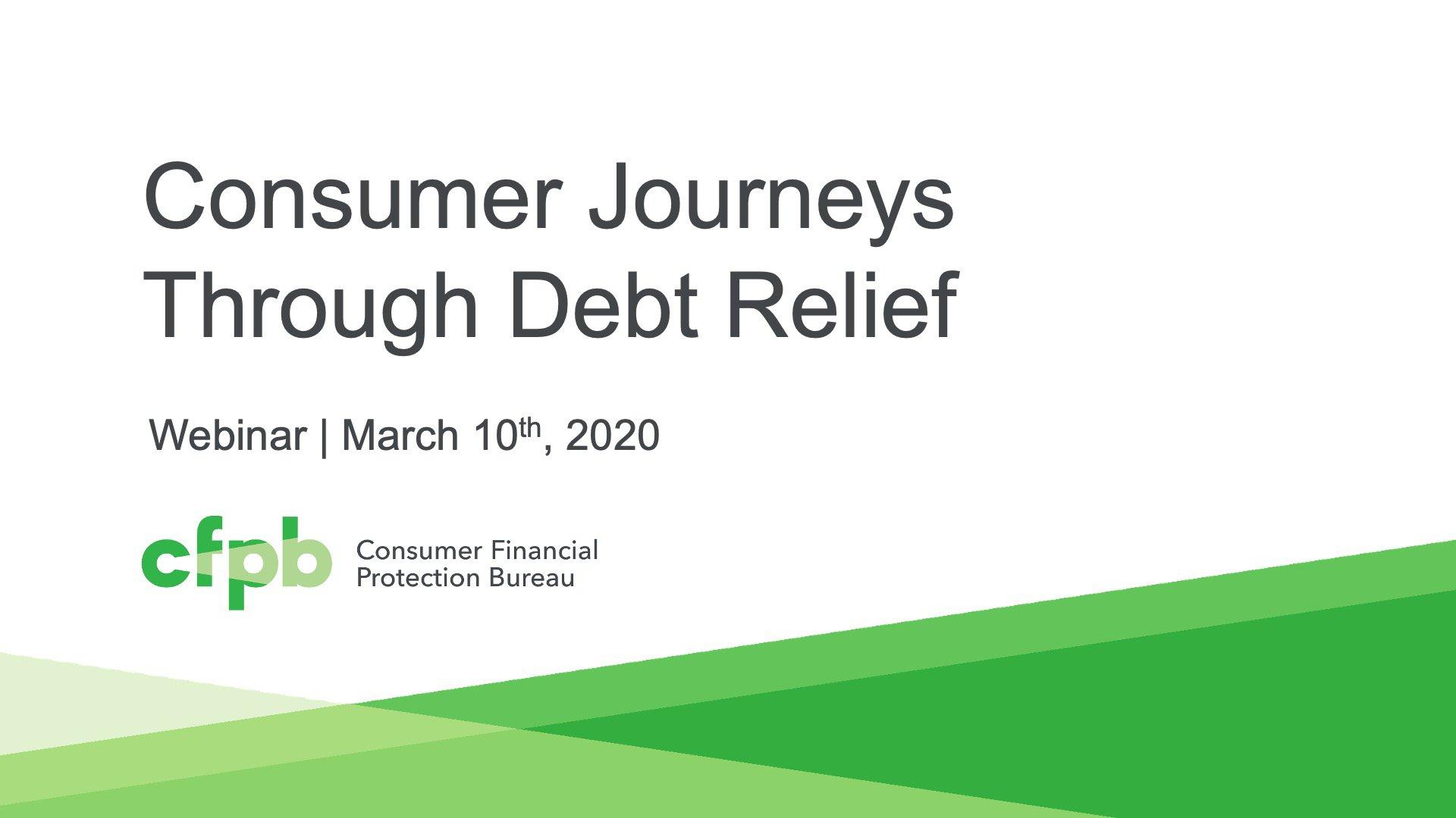 Session 4: Consumer Journeys Through Debt Relief