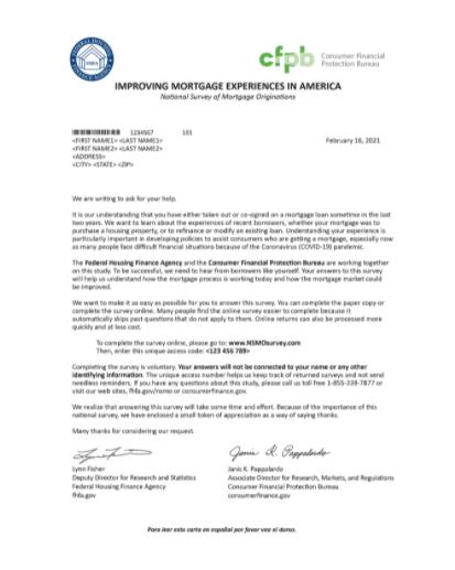 Survey cover letter