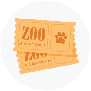 illustration of zoo tickets