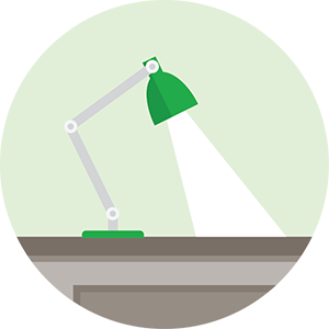 Illustration of a desk lamp