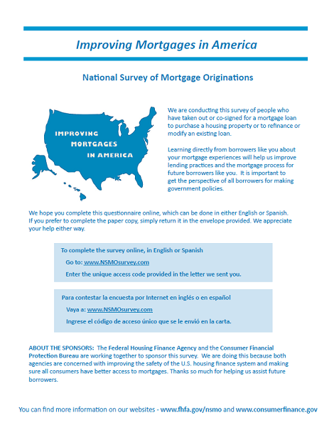 National Survey of Mortgage Originations | Consumer