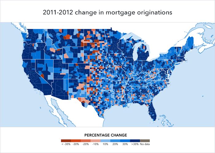 2012 loan volumes change