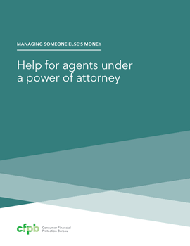 Cover of booklet on power of attorney