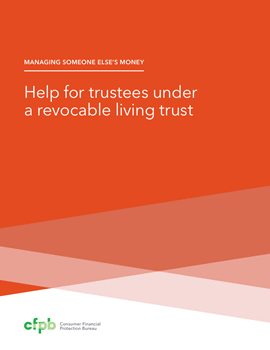Cover of booklet on trustees
