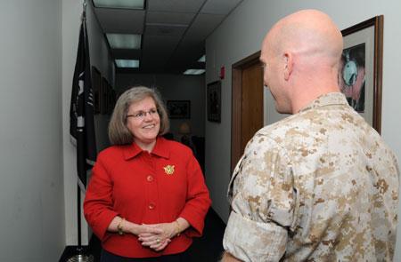 Holly Petraeus and Marine